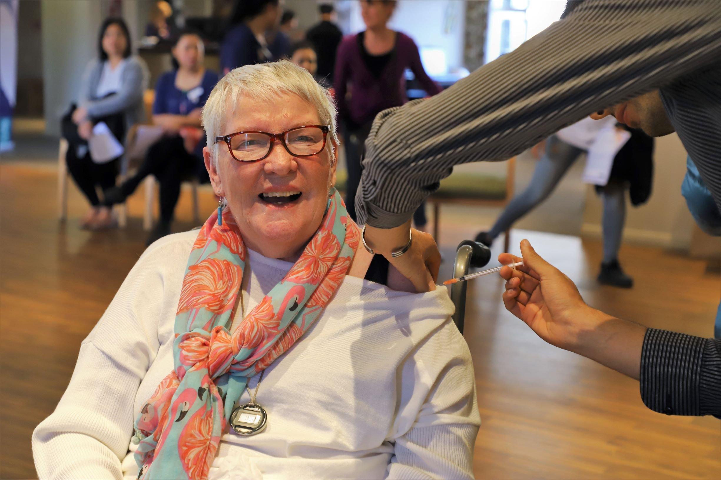 First resident Maureen Roche BB small