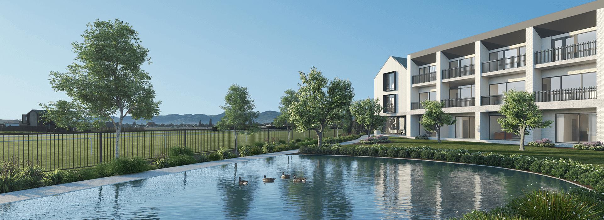 Riccarton-park-retirement-village-pond